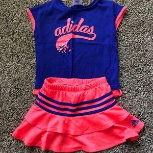 Adidas shirt and skirt- 4T